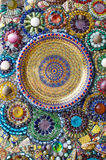 Colorful glassbead decoration on wall Stock Image