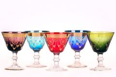 Colorful glasses Stock Images