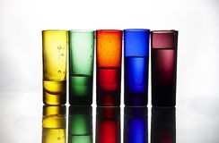 Colorful glasses Royalty Free Stock Images