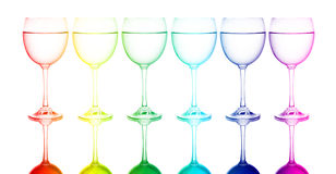 Colorful glasses. In front of white background Royalty Free Stock Photo