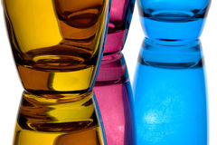 Colorful glasses. In front of white background Stock Images