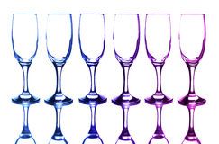 Colorful glasses. In front of white background Stock Photos