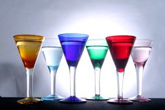 Colorful Glasses Stock Image