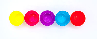 Colorful glasses or cup for children Royalty Free Stock Photos