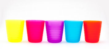 Colorful glasses or cup for children Royalty Free Stock Images