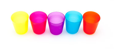 Colorful glasses or cup for children Royalty Free Stock Photo