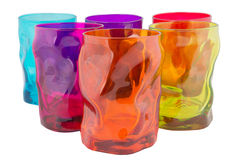 Colorful glasses. Six colorful glasses on isolated background Royalty Free Stock Photo