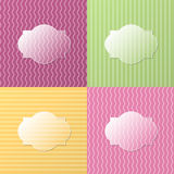 Colorful glassy background. Vector background with glass space for text Stock Images
