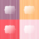Colorful glassy background. Vector background with glass space for text Royalty Free Stock Photography