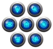 Colorful glassy web buttons Royalty Free Stock Images