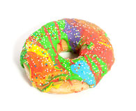 A colorful glazed donut Royalty Free Stock Photography