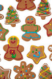 Colorful, glazed gingerbread Christmas cookies Stock Photos