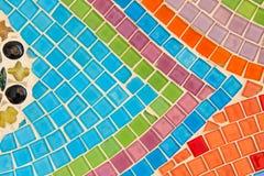 Colorful glazed tile background Stock Photography