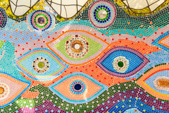 Colorful glazed tile background Royalty Free Stock Photo