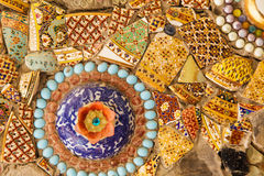 Colorful glazed tile Stock Image