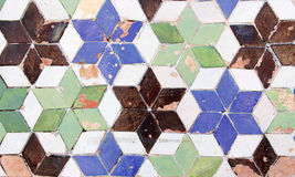 Colorful glazed tiles Stock Images