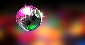 Colorful Glinting Disco Ball Royalty Free Stock Photos