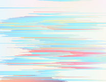 Colorful glitched lines Stock Images