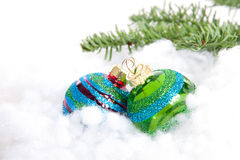 Colorful glitter Christmas balls Stock Photos