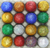 Colorful glitter eggs Royalty Free Stock Photography
