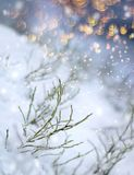 Colorful glitter flakes snowfall impression. Colorful flakes first snow impression, beautiful winter concept Christmas snowfall royalty free stock photo
