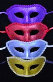 Colorful glitter masks Royalty Free Stock Images
