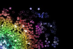Colorful Glitter On Black Stock Photography