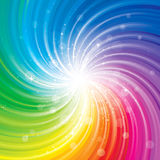 Colorful Glittering Background. Glittering stars on colorful swirl background Stock Photography