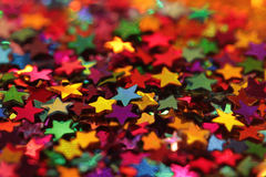 Colorful glittering stars close up Royalty Free Stock Images