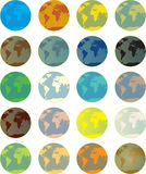 Colorful global buttons Stock Photos