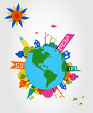 Colorful global transparent shapes. Royalty Free Stock Photography
