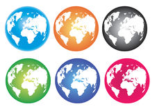 Colorful Globe. Globe various color in white background Stock Photos