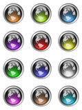 Colorful Globe Buttons Stock Photo