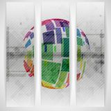 Colorful Globe Design. Royalty Free Stock Images