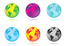 Colorful globes vector illustration