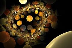 Colorful globules in a big vein. Digital illustration vector illustration