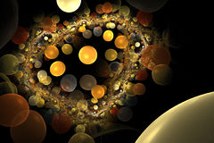 Colorful Globules In A Big Vein Royalty Free Stock Photos