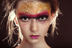 Colorful gloss makeup Royalty Free Stock Photos