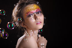 Colorful gloss makeup Royalty Free Stock Photography