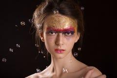 Colorful gloss makeup Royalty Free Stock Image