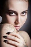 Colorful gloss makeup Stock Photo
