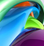 Colorful glossy abstract Stock Photo