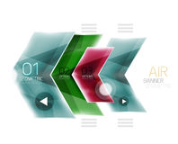 Colorful glossy arrow web box Stock Images