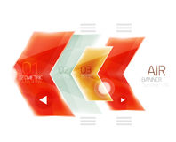 Colorful glossy arrow web box Stock Photography