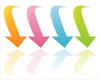 Colorful glossy arrows Stock Photography