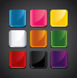 Colorful glossy backgrounds for app icons Royalty Free Stock Photos