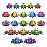Colorful Glossy Badges Stock Images
