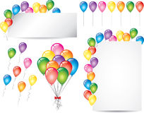 Colorful glossy balloons  set Stock Image