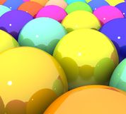 Colorful glossy balls Royalty Free Stock Photo