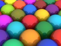 Colorful glossy balls Stock Photos